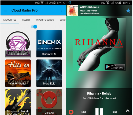 Cloud Radio Pro Paid APK Screenshot