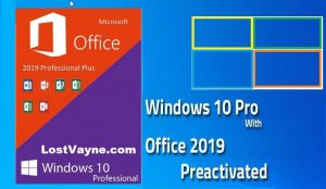 Windows 10 Pro Pre-Activated with Office 2019